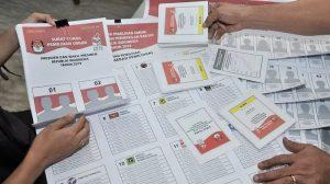 contoh surat suara pemilu 2019