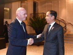 Presiden FIFA dan Presiden Jokowi