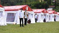presiden jokowi dan kepala BNPB di Mamuju