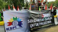 Aksi KSPI bela Palestina